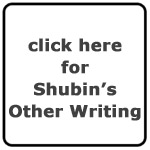 Seymour Shubin's Other Writing